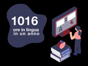 1016 ore di lezioni in lingua